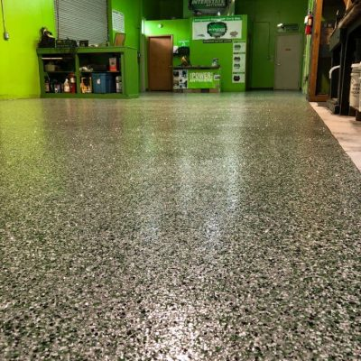 Liquid Floors USA Commercial Auto Shop Bay