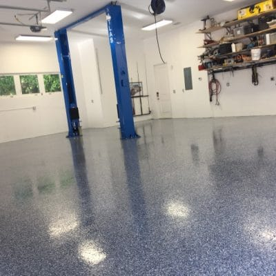 Liquid Floors USA Flake Floor Garage