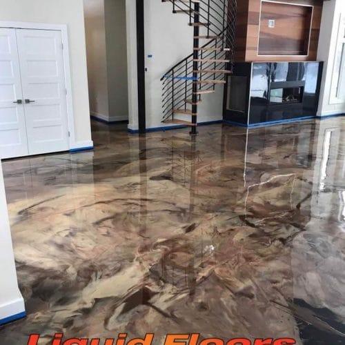 Liquid Floors USA Metallic Indoor Floor Coating